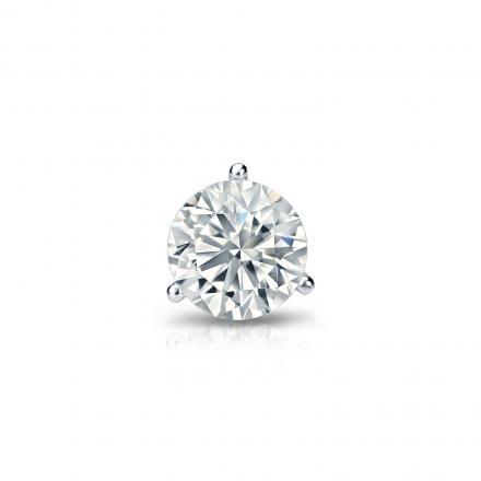 e0ba48aba7fe2a Certified Platinum 3-Prong Martini Round Diamond Single Stud Earring 0.38  ct. tw. (G-H, VS2) - DiamondStuds.com