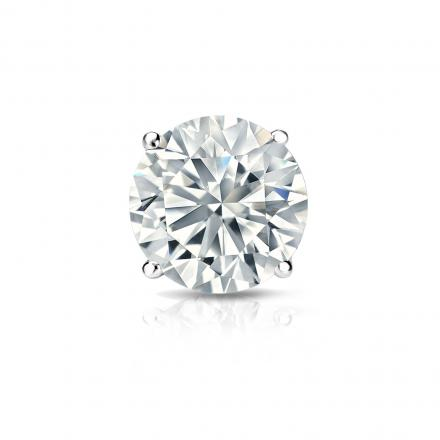 Certified Platinum 4-Prong Basket Round Diamond Single Stud Earring 1.00 ct. tw. (G-H, VS1-VS2)