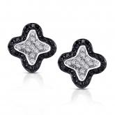14k White Gold Pave-Set Black & White Diamond Earring 0.25 ct. tw. (G-H, I1-I2)
