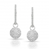 14k White Gold Round Cut Diamond Dangling Earring 0.75 ct. tw. (I-J, I1-I2)