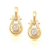 14k Yellow Gold Round-Cut Diamond in a Bezel Setting Earrings 0.15 ct. tw. (I-J, I1-I2)