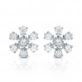 10k White Gold Snowflakes Round-Cut Diamond Earrings 0.25 ct. tw. (I-J, I1-I2)
