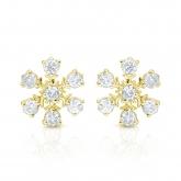 10k Yellow Gold Snowflakes Round-Cut Diamond Earrings 0.25 ct. tw. (I-J, I1-I2)