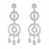 14k White Gold 1 1/2ct TW Diamond Chandelier Earrings (H-I, SI1-SI2)