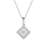 Royal Princess-Cut Dancing Stone Diamond Pendant