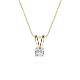 14k Yellow Gold 4-Prong Basket Certified Asscher-Cut Diamond Solitaire Pendant 0.25 ct. tw. (I-J, I1)