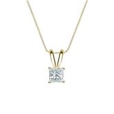 14k Yellow Gold 4-Prong Basket Certified Princess-Cut Diamond Solitaire Pendant 0.31 ct. tw. (I-J, I1-I2)