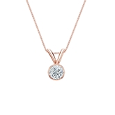 14k Rose Gold Bezel Certified Round-Cut Diamond Solitaire Pendant 0.20 ct. tw. (H-I, SI1-SI2)