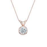 14k Rose Gold Bezel Certified Round-Cut Diamond Solitaire Pendant 0.50 ct. tw. (I-J, I1)