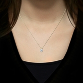 Certified Round-Cut Lab Grown Diamond Solitaire Pendant in 14k Yellow Gold 4-Prong Basket 0.75 ct. tw. (I-J, SI1-SI2)