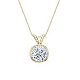 14k Yellow Gold Bezel Certified Round-Cut Diamond Solitaire Pendant 0.88 ct. tw. (I-J, I1-I2)