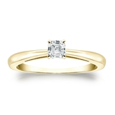 Certified 18k Yellow Gold 4-Prong Asscher Diamond Solitaire Ring 0.25 ct. tw. (I-J, I1-I2)