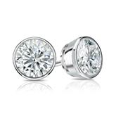 Certified Platinum Bezel Round Diamond Stud Earrings 1.25 ct. tw. (I-J, I1)