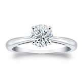 Certified Platinum 4-Prong Round Diamond Solitaire Ring 0.75 ct. tw. (J-K, I2)
