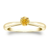 Certified 18k Yellow Gold 4-Prong Yellow Diamond Solitaire Ring 0.25 ct. tw. (Yellow, SI1-SI2)