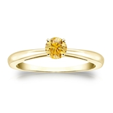 Certified 18k Yellow Gold 4-Prong Yellow Diamond Solitaire Ring 0.33 ct. tw. (Yellow, SI1-SI2)