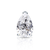 Certified 18k White Gold V-End Prong Pear Shape Diamond Single Stud Earring 1.00 ct. tw. (G-H, VS1-VS2)